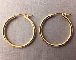 gold hoop earrings gold hoop earrings etsy