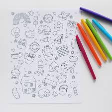 hello wonderful free printable kawaii coloring page