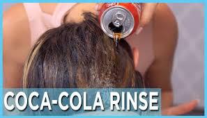 coke hair rinse we try the coca cola hair rinse smink köröm haj pinterest