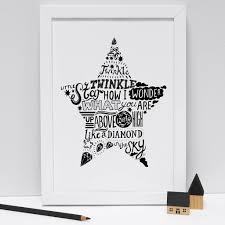 twinkle twinkle little star print by lucy loves this twinkle twinkle little star print by lucy loves this notonthehighstreet com