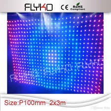factory price led video curtain screen rgb curtain screen stage