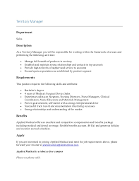 Manager Job Description Resume by Sales Department Manager Resume