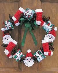 crocheted christmas crocheted christmas wreath allfreecrochet