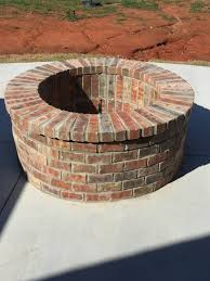 Brick Firepit Custom Wood Burning Or Gas Pits