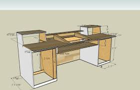 Build A Wooden Computer Desk by Measurements For A Recording Desk Build I Think I U0027m Going To