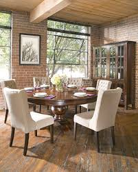 Colonial Plantation  Round Dining Table Gage Furniture - Colonial dining room furniture