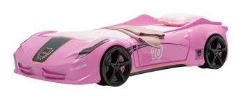 car bed for girls newjoy v8 vento pink race car bed
