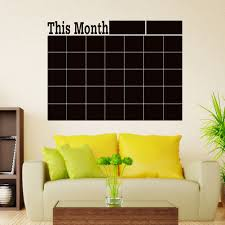 Chalkboard Home Decor by Chalkboard Wall Calendar Wallies Peel Stick Vinyl Wall Decals