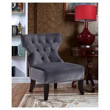 discount furniture kitchener kitchener accent chair gray simpli home target