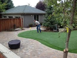 backyard putting green cups flags diy real grass size kit ideas
