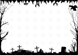 scary halloween clipart black and scary halloween borders u2013 fun for halloween