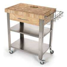 chris u0026 chris pro stadium kitchen cart with butcher block top