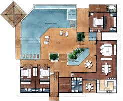 Pool Home Plans by Three Bedroom Villas House Plans New Model Home Plan Pool Home