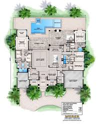 house plan with courtyard baby nursery house plans with pools house plans pools modern