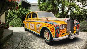 wrapped rolls royce john lennon u0027s psychedelic rolls royce phantom v returns to london