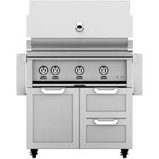 hestan 36 inch stainless steel freestanding propane gas grill with
