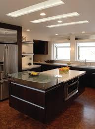 interior modern kitchen hanging ceiling lights over white kitchen