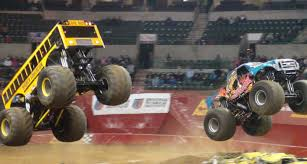 monster jam truck show 2015 watch the higher education u0026 instigator monster trucks go wild at