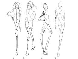 the four fashion views in fashion drawing dummies