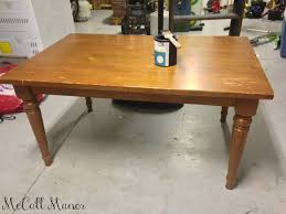 pottery barn farm table roadkill coffee table makeover mccall manor