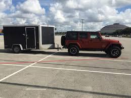 jeep wrangler cargo trailer anyone tow with a jeep wrangler jk harley davidson forums