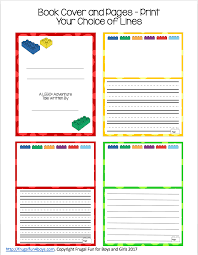 make your own lego book printable pack