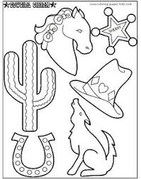 far west coloring page preschool western pinterest coloring