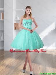 quince dama dresses 2015 new style turquoise sweetheart dama dresses with