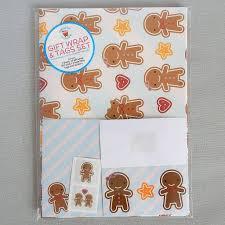 gingerbread man writing paper cookie cute gingerbread man gift wrap set by asking for trouble cookie cute gingerbread man gift wrap set