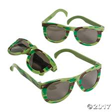 Camouflage Favors by Camouflage Army Sunglasses