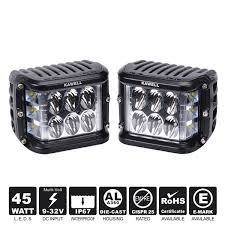 cube cars white kawell dual side shooter led cube 45w led work light off road led