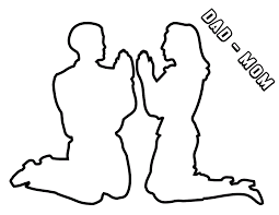 can pray to heavenly father coloring page found on lds or clip