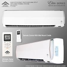 mitsubishi mini split wall mount amvent 18000 btu 1 5 ton ductless wall mount mini split room air