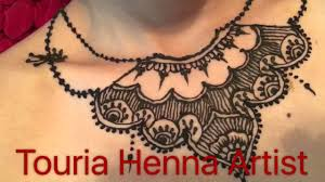 henna on neck youtube