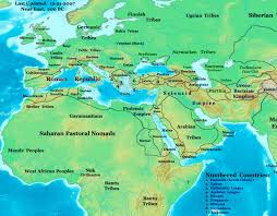 Rome On World Map Map Of Rome And Carthage At The Start Of The Second Punic War Map