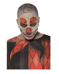horror clown half mask mask up as killer clown horror shop com