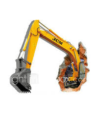 3d the excavator wall stickers wall decals 1415226 2017 13 59 wall stickers 3d