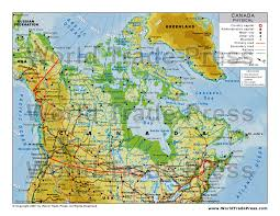 physical map of idaho physical map of canada