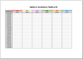 Schedule Excel Templates 10 Free Weekly Schedule Templates For Excel Savvy Spreadsheets