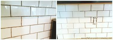 changing grout color a subway tile update the happier homemaker