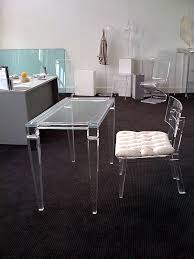 Black Desk And Chair Acrylic Home Office Desks For A Clearly Fabulous Work Space
