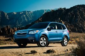 blue subaru 2017 2014 motor trend suv of the year winner subaru forester motor trend