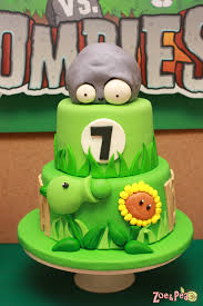 Halloween First Birthday Cakes by Plants Vs Zombies Birthday Plants Vs Zombies Plants And