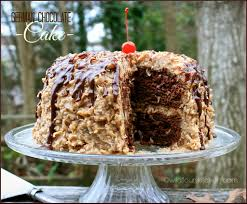 kicked up german chocolate cake from a mix with homemade coconut