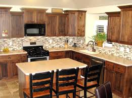 appliances varnished wooden kitchen cabinet with small kitchen