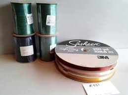sasheen ribbon vintage sasheen ribbon 3m 7 rolls 5 8 wraphia ribbon fudge gold