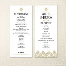 printable deco wedding program template diy wedding program