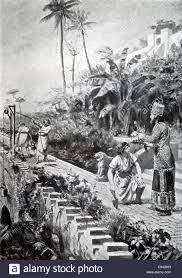 king nebuchadnezzar 605 562 b c stands in the area of his