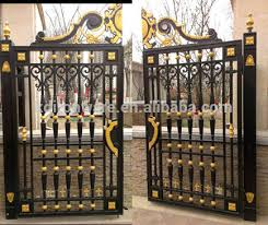 Factory Prices Swing Open Wrought Iron Gate Designs for homes