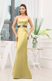 Canary Yellow Dresses For Weddings Canary Yellow Bridesmaid Dresses Satin Uwdress Com